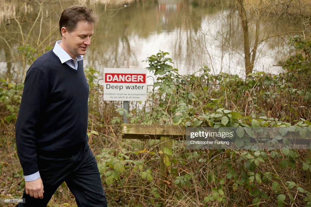 British Deputy Prime Minister and Leader of the Liberal Democrat Party Nick Clegg visits a hedgehog homebuilding project at Parkridge Wildlife Centre...