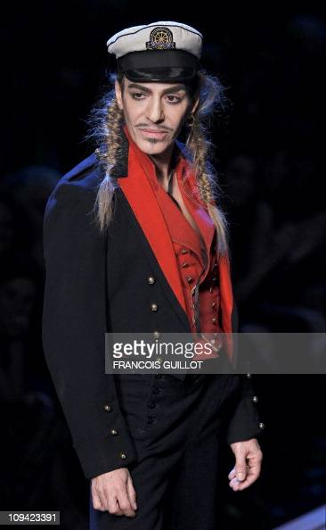 British designer John Galliano acknowledges the public after the Christian Dior Spring/Summer 2011 readytowear collection show on October 1 2010 in...