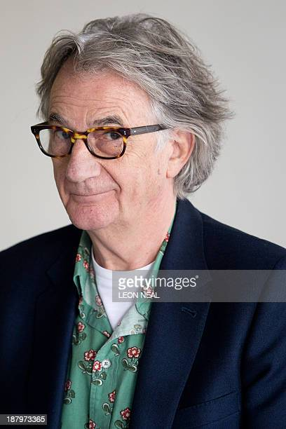 British designer Paul Smith speaks to journalists during a press conference at the opening of the 'Hello My Name is Paul Smith' exhibition at Design...
