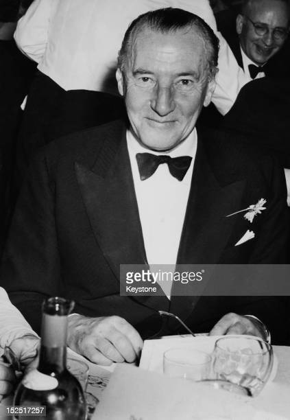 British diplomat Archibald Clark Kerr 1st Baron Inverchapel the Ambassador to the United States during a Foreign Press Association dinner at the...