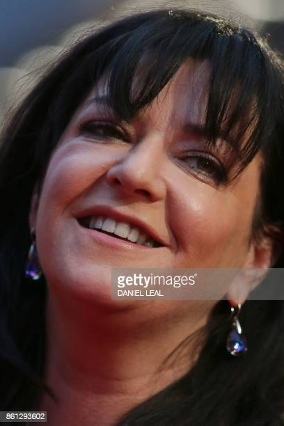 British director Lynne Ramsay poses on the red carpet arriving for the gala screening of the film 'You were Never really Here' during the BFI London...