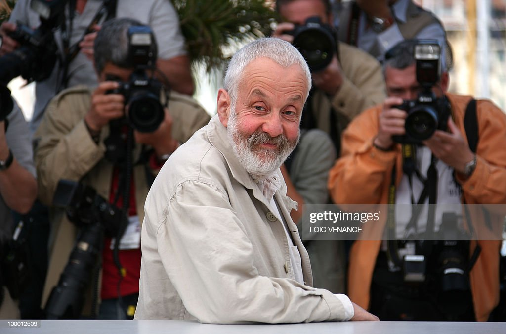 British director Mike Leigh poses during the photocall of 'Another Year' presented in competition at the 63rd Cannes Film Festival on May 15, 2010 in Cannes.