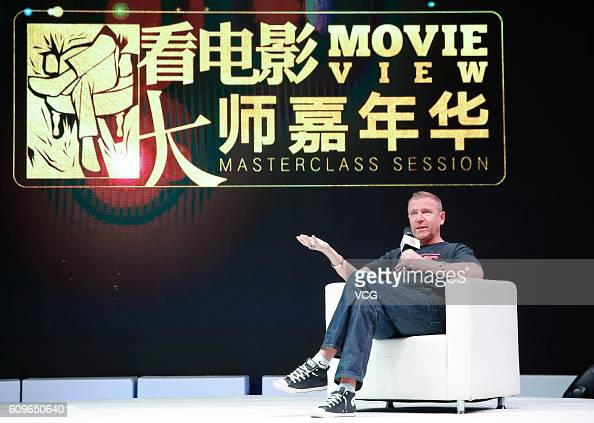 British director Renny Harlin attends masterclass session during Xi'an Silk Road International Film Festival at Xi'an Westin Hotel on September 21...