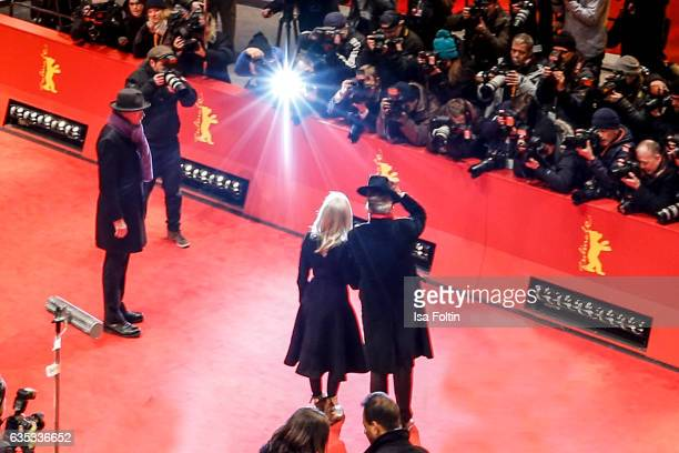 British director Sally Potter and Dieter Kosslick during the 'The Party' premiere during the 67th Berlinale International Film Festival Berlin at...