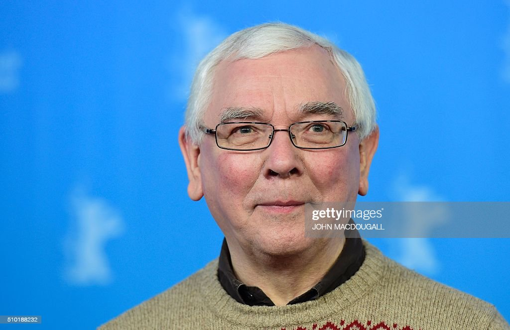 British director Terence Davies poses during a photocall for the film 'A Quiet Passion' during the 66th Berlinale Film Festival in Berlin on February 14, 2016. / AFP / John MACDOUGALL
