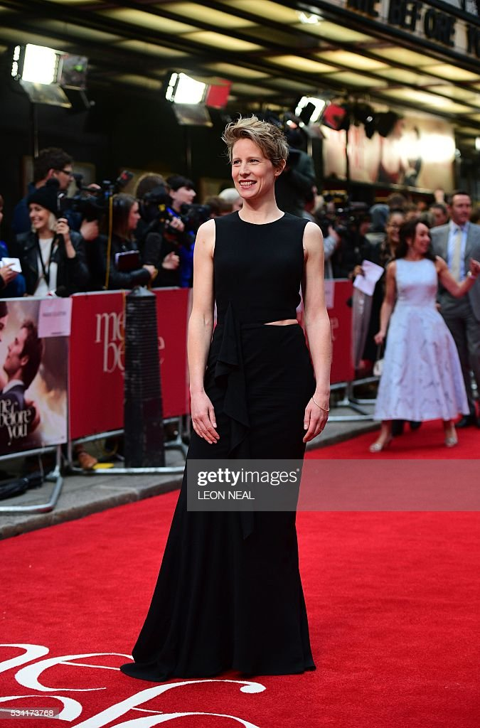 British director Thea Sharrock poses for pictures as she arrives for the European Premiere of the film 'Me Before You' in central London, on May 25, 2016. / AFP / LEON