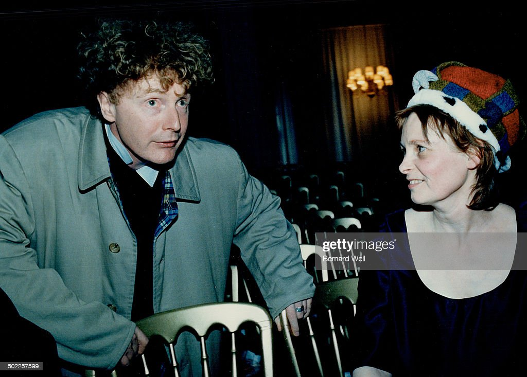 British eccentrics Left culture vulture Malcolm McLaren offers congratulations to eccentric exlove designer Vivienne Westwood after the show