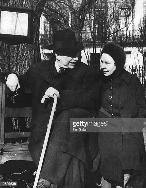British economist John Maynard Keynes with his wife ballerina Lydia Lopokova Original Publication Picture Post 361 Mr Keynes Has A Plan pub 1940