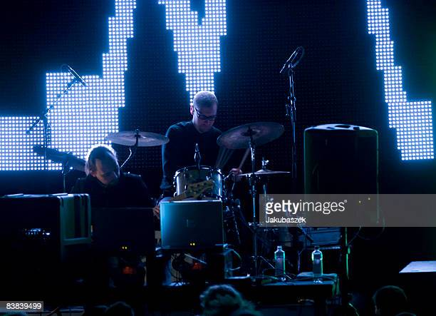 British electronic musician Thomas Jenkinson also known as Squarepusher performs at the Volksbuehne on November 26 2008 in Berlin Germany