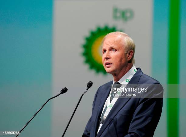 British energy giant BP CEO Bob Dudley addresses a keynote speech during the World Gas Conference in Paris on June 2 2015 AFP PHOTO / ERIC PIERMONT