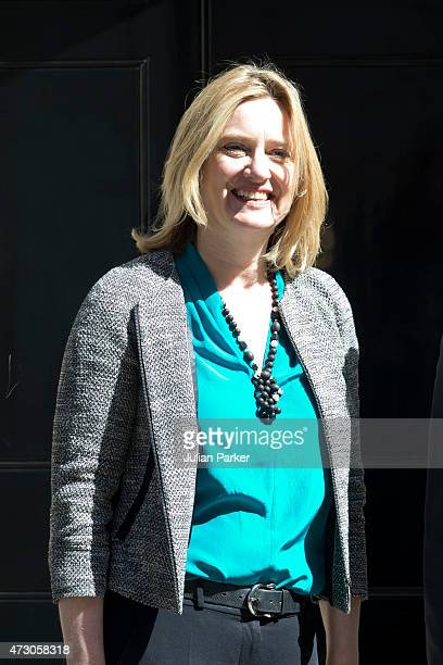 British Energy Secretary Amber Rudd attends the first Conservative Cabinet meeting of The new Government at 10 Downing Street on May 12 2015 in...