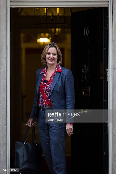British Energy Secretary and Climate Change Secretary Amber Rudd arrives at Downing Street on July 13 2016 in London England The UK's New Prime...