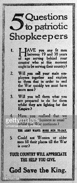 British enlistment propaganda from the First World War Appealing to specific demographics of people to join the Armed forces This print appeal sits...