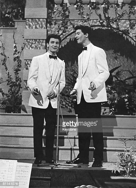 British entrants The Allison Brothers performing at the Eurovision Song Contest in Cannes 21st March 1961 The duo took second place with their song...
