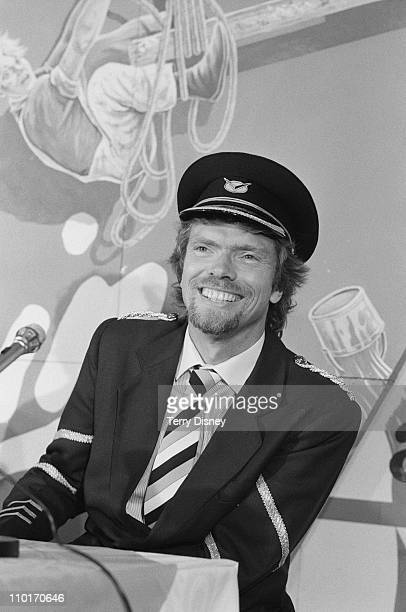 British entrepreneur Richard Branson inaugurates his new airline Virgin Atlantic Airways 22nd June 1984