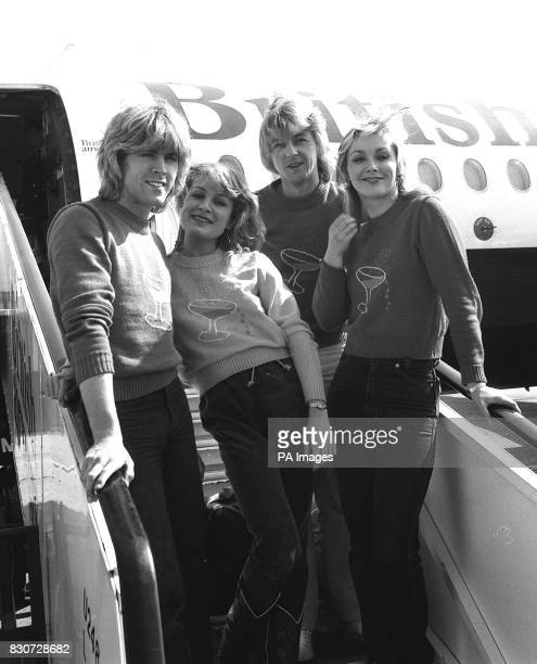 British Eurovision Song Contest winners Bucks Fizz at heathrow Airport The four have just come back from Holland where they gave a concert They...