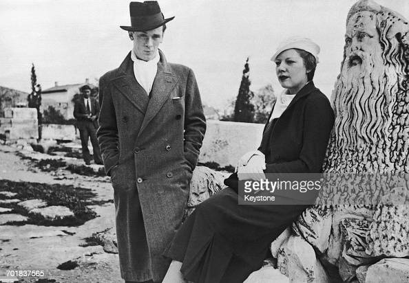 British fascist John Amery with his wife actress Una Wing after their wedding in the chapel of a private villa in Athens 3rd April 1933 The couple...