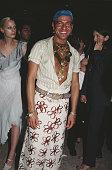 British fashion designer John Galliano at a 'Saks Fifth Avenue' party 1996