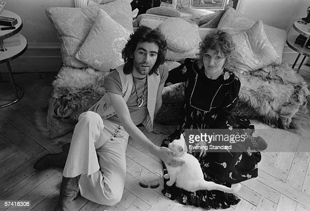 British fashion designer Ossie Clark with his wife textile designer Celia Birtwell July 1971