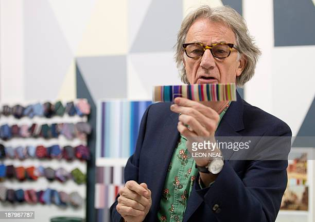 British fashion designer Paul Smith is pictured in a replica of his design studio as he launches an exhibition entitled 'Hello My Name is Paul Smith'...