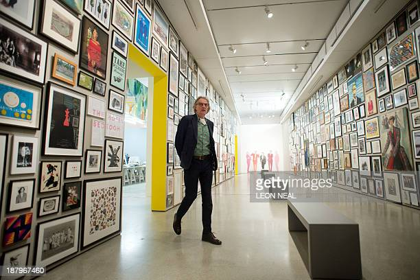 British fashion designer Paul Smith walks through the Design Museum in London on November 14 as he launches an exhibition entitled 'Hello My Name is...
