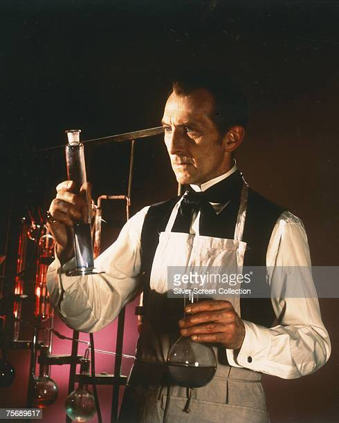 British film actor Peter Cushing reprises his role as Baron Victor Frankenstein in the Hammer production 'Frankenstein Must Be Destroyed' 1969