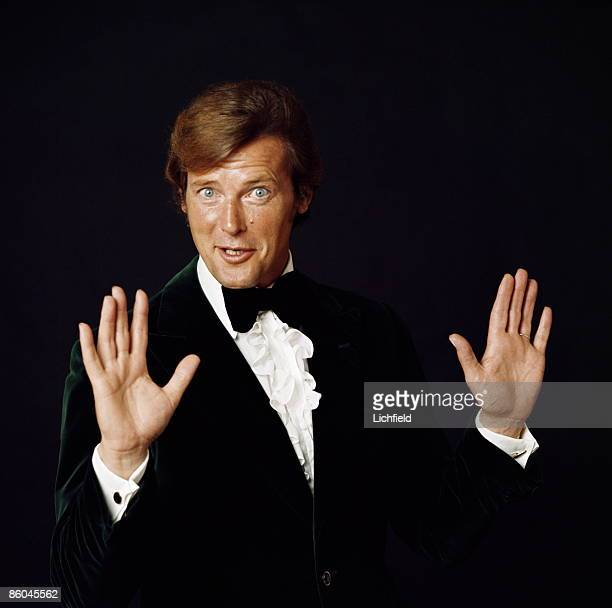British film actor Roger Moore Best known for his role as Simon Templar in The Saint and as James Bond which he played in seven movies photographed...