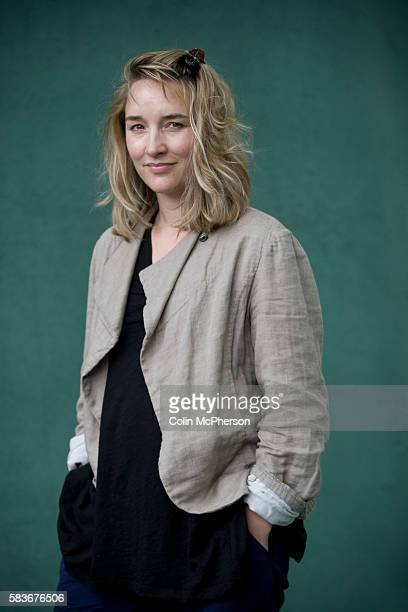 British film actress Emily Woof pictured at the Edinburgh International Book Festival where she talked about her debut novel entitled 'The Whole Wide...