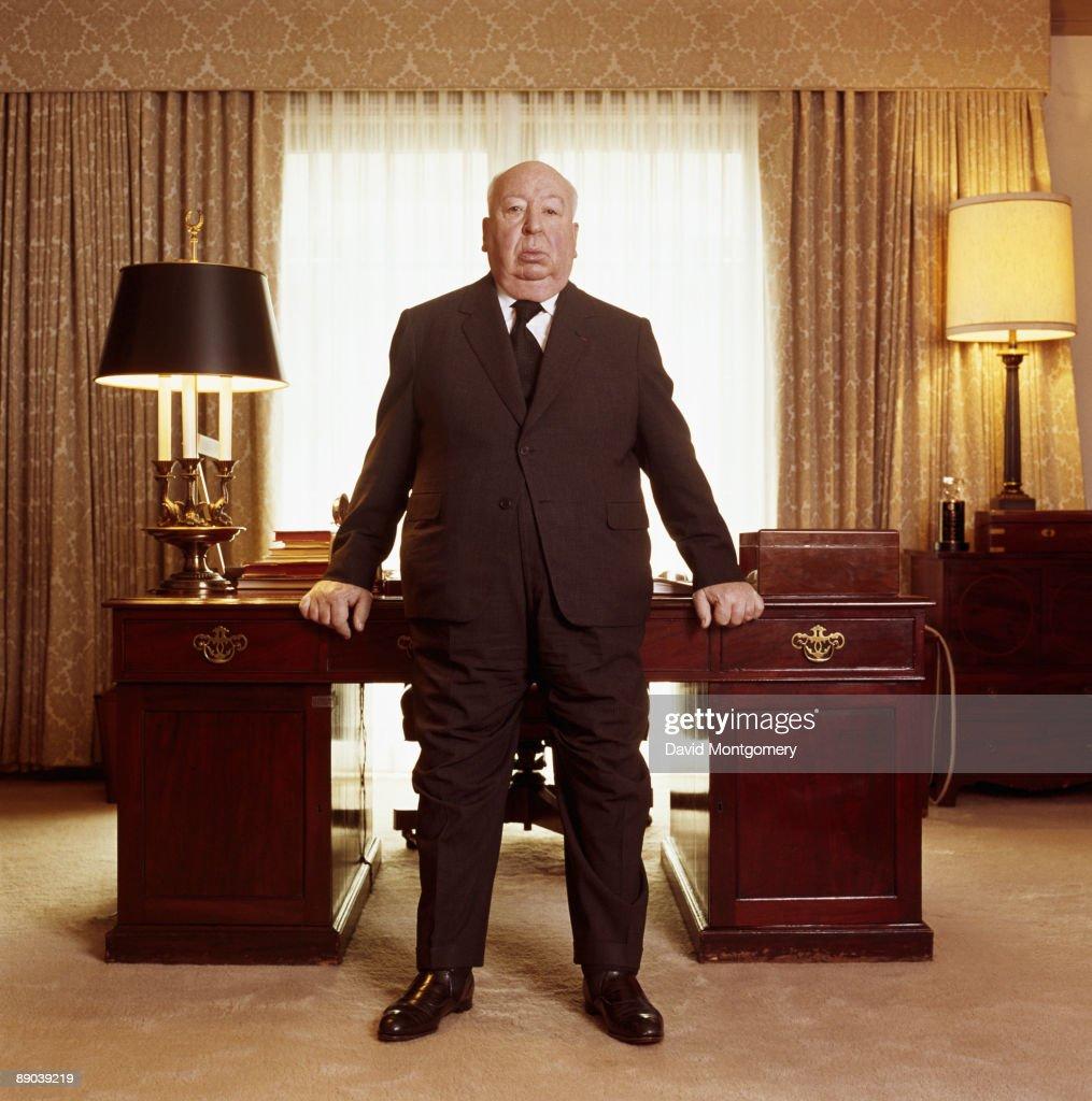 British film director Alfred Hitchcock (1899 - 1980), August 1976.