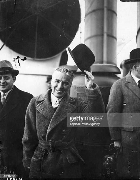 British film director and actor Charlie Chaplin arriving in Plymouth after a ten year absence from England Original Publication People Disc HW0460