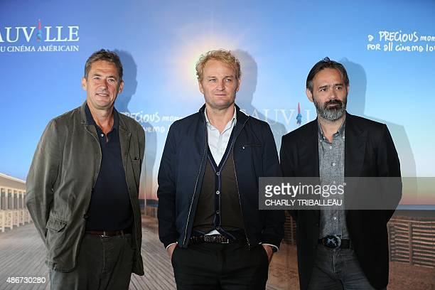 British film producer Tim Bevan Australian actor Jason Clarke and Icelandic director Baltasar Kormakur pose during a photocall to present the movie...