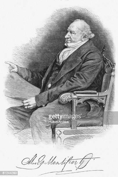 British financier philanthropist and Jewish leader Sir Moses Montefiore circa 1860