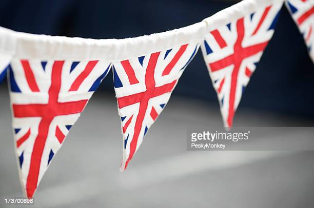 British Flag Union Jack Bunting Dark Background