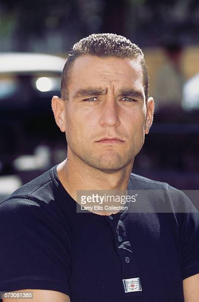 British footballer and actor Vinnie Jones in a promotional portrait for the launch of the UK men's lifestyle television channel 'Granada Men Motors'...