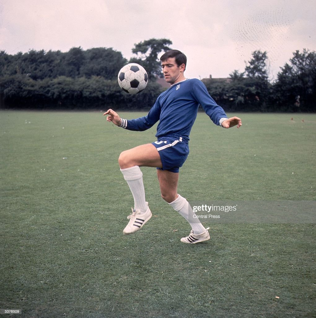 British footballer Terry Venables of Chelsea in training.