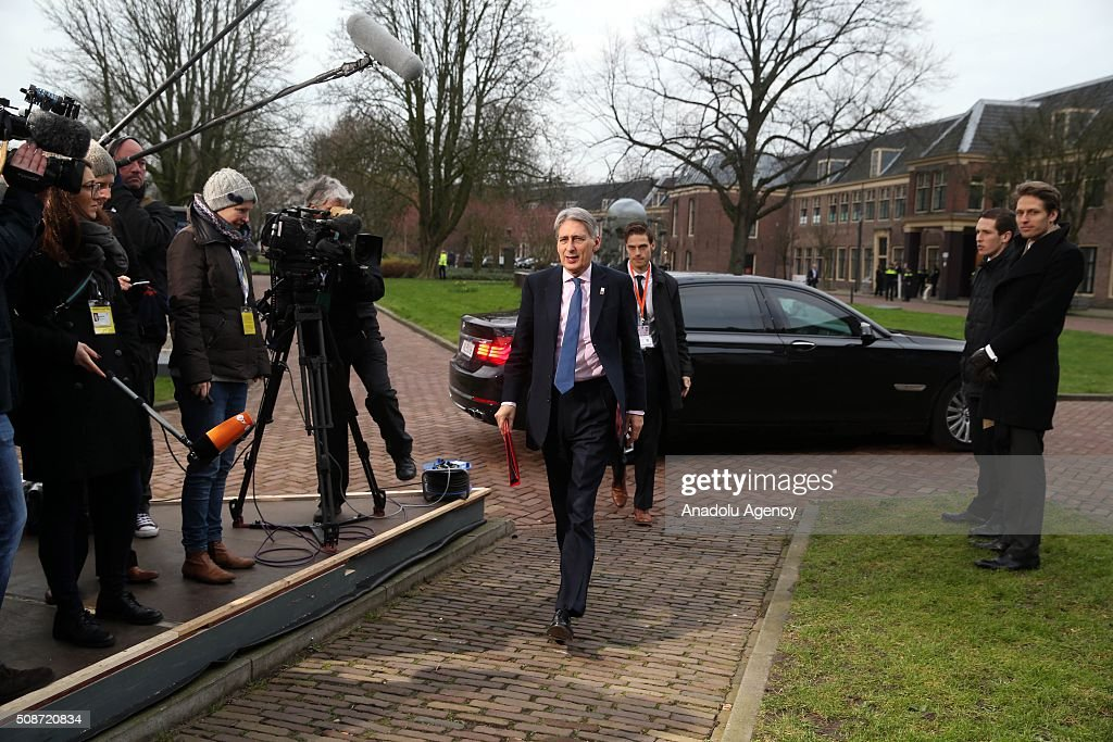 British Foreign Minister Philip Hammond arrives to take part in Informal Gymnich meeting of EU foreign ministers in Amsterdam, Netherlands on February 6, 2016.