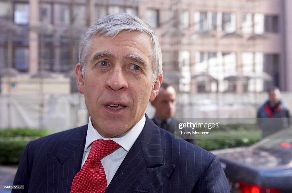 British Foreign Secretary Jack Straw attends a European Unionin Brussels to keep up pressure on Iran ahead of crunch nuclear talks warning it against...
