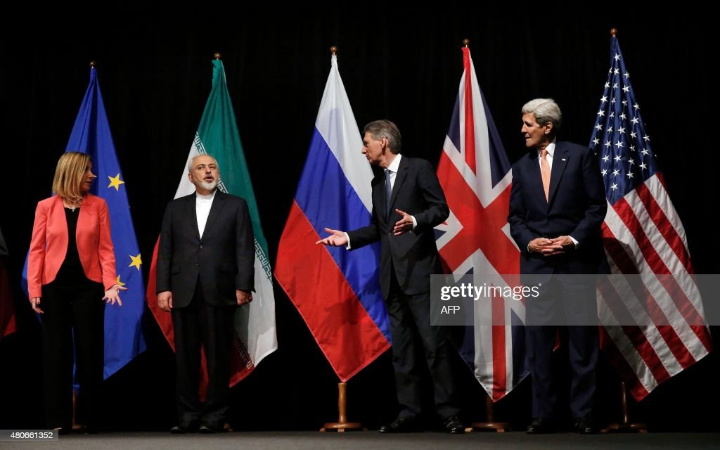 British Foreign Secretary Philip Hammond US Secretary of State John Kerry and European Union High Representative for Foreign Affairs and Security...