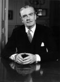British Foreign Secretary Sir Anthony Eden in his official residence in Carlton House Terrace hours before he was to become Premier