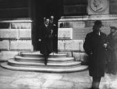 British former Foreign Secretary Anthony Eden leaves the Foreign Office in London after his last day in the post 22nd February 1938 Eden resigned...