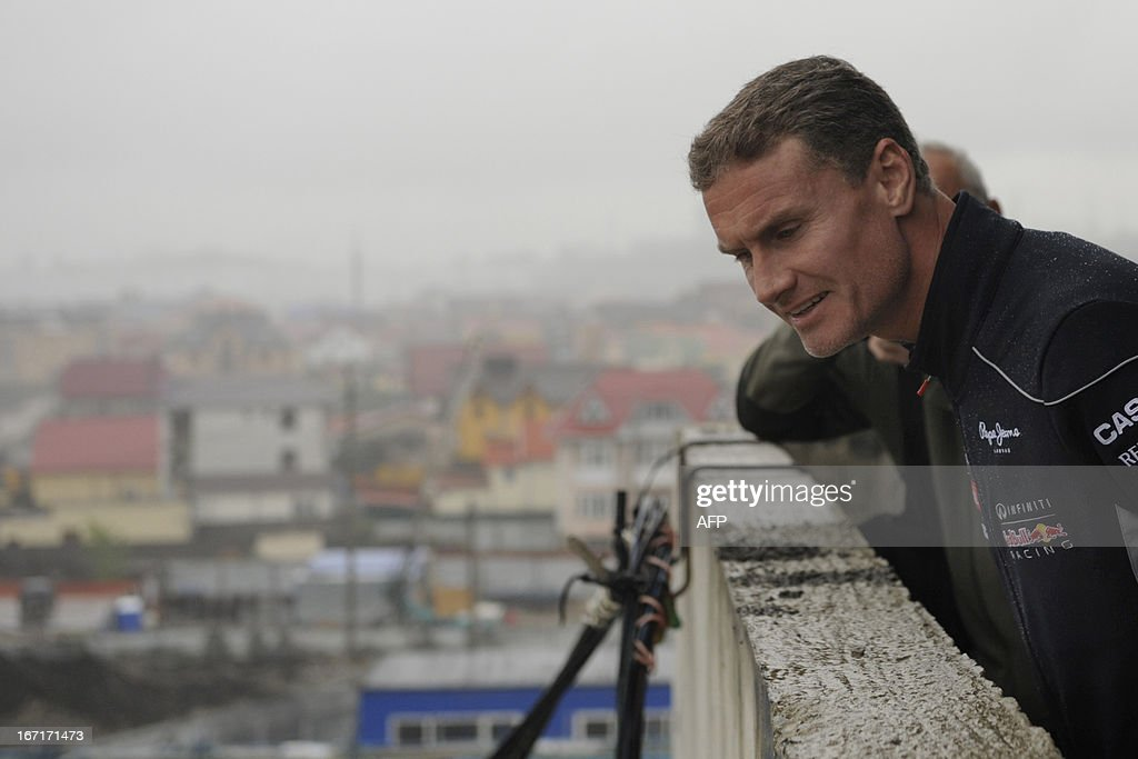 British former Formula One racing driver from Scotland turned commentator David Coulthard visits the construction site of Russian Grand Prix circuit in the Black Sea resort of Sochi on April 22, 2013. Coulthard attended today a special promotional event at the new Russian Grand Prix circuit in Sochi, the location for the 2014 Winter Olympic.