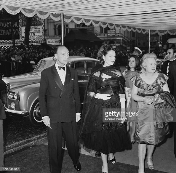 British former politician John Profumo and his wife actress Valerie Hobson at the premiere of the film 'Othello' at the Odeon Leicester Square London...