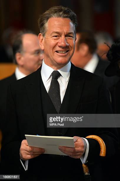 British former politician Michael Portillo attends the ceremonial funeral of former British Prime Minister Baroness Thatcher at St Paul's Cathedral...