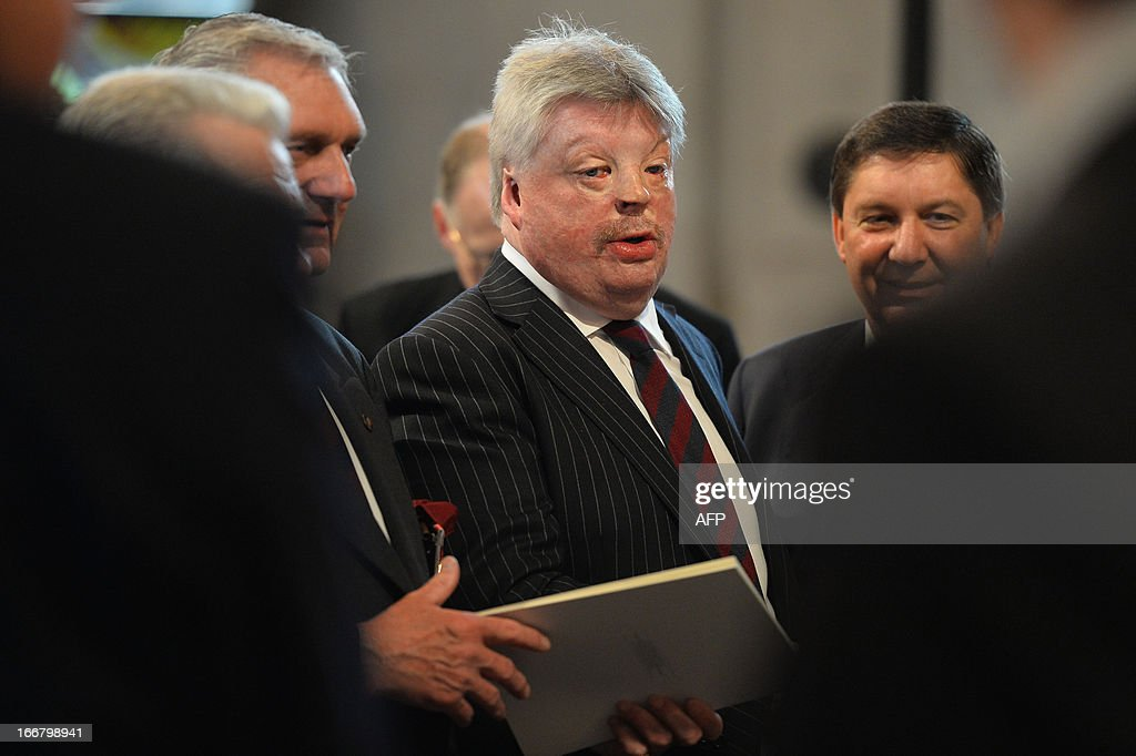 British former soldier and veteren of the Falklands War Simon Weston attends the ceremonial funeral of British former prime minister Margaret Thatcher in St Paul's Cathedral in central London on April 17, 2013. The funeral of Margaret Thatcher took place on April 17, with Queen Elizabeth II leading mourners from around the world in bidding farewell to one of Britain's most influential and divisive prime ministers.