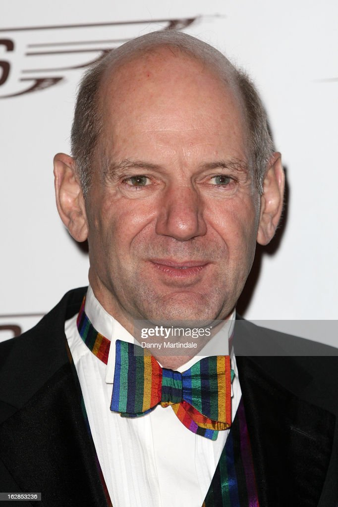 British Formula One engineer Adrian Newey OBE attends a dinner and ball hosted by The Cord Club in aid of Wings For Life at One Marylebone on February 28, 2013 in London, England.