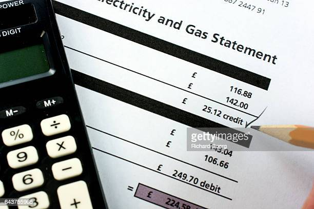 British gas and electricity bill