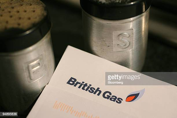 British Gas bill is seen in a kitchen in London UK on Thursday Feb 21 2008 Centrica Plc the UK's biggest energy supplier posted secondhalf profit in...