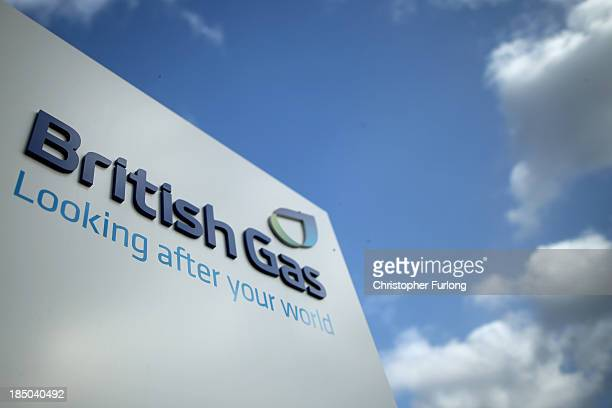 British Gas branding adorns the entrance to Leicester's Aylestone Road British Gas Centre on October 17 2013 in Leicester United Kingdom British Gas...