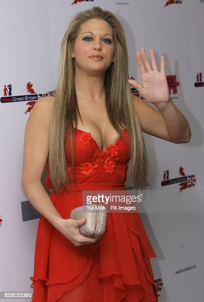 British Glamour model and television personality Bianca Gascoigne arrives for the Miss Great Britain 2007 ceremony at the Grosvenor House Hotel in...