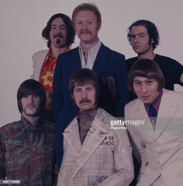 British group Bonzo Dog DooDah Band posed in 1968 The line up includes Vivian Stanshall Neil Innes 'Legs' Larry Smith Roger Ruskin Spear and Rodney...